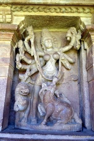 Durga killing Mahishasura - Durga Temple, Aihole