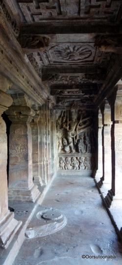 Trivikrama Sculpture & Pillars