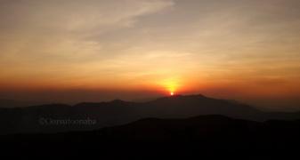 Sunset at Kyatanamakki view point