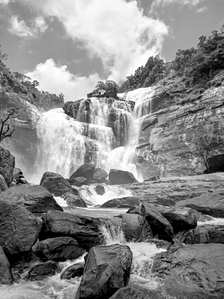 Mallalli Falls from the base of the waterfall. Pic Credits - Chandrasekhar